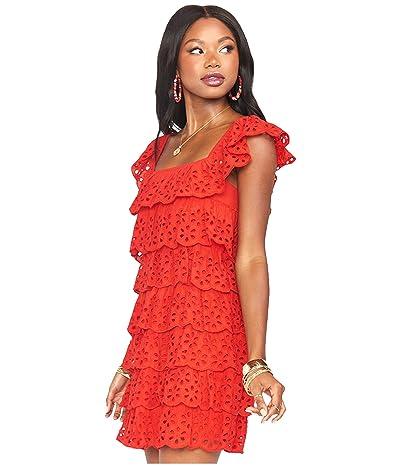 Show Me Your Mumu Lucy Mini Dress (Cherry Eyelet) Women