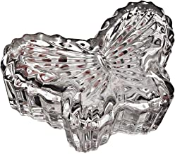 Fine Crystal 3.5' Covered Butterfly Box.