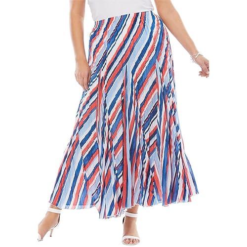 545c8a4b5f2 Jessica London Women s Plus Size Cotton Crinkled Maxi Skirt