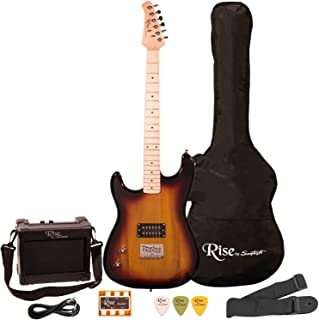 Best Rise by Sawtooth ST-RISE-ST-LH-SB-KIT-1 Electric Guitar Pack, Left Handed, Sunburst Reviews