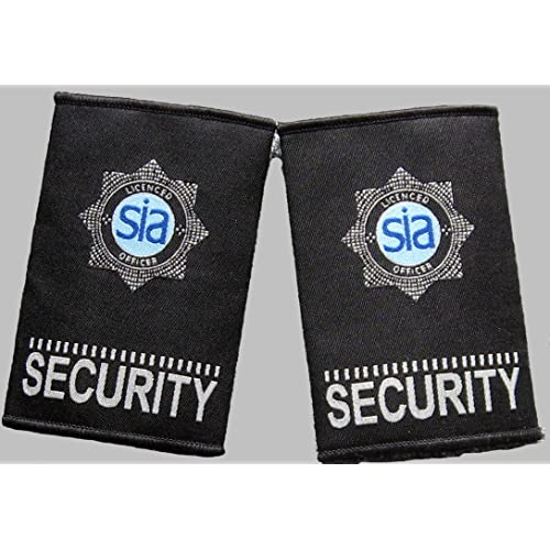 "/""NEW COLOUR/"" licensed security officers badged epaulettes"