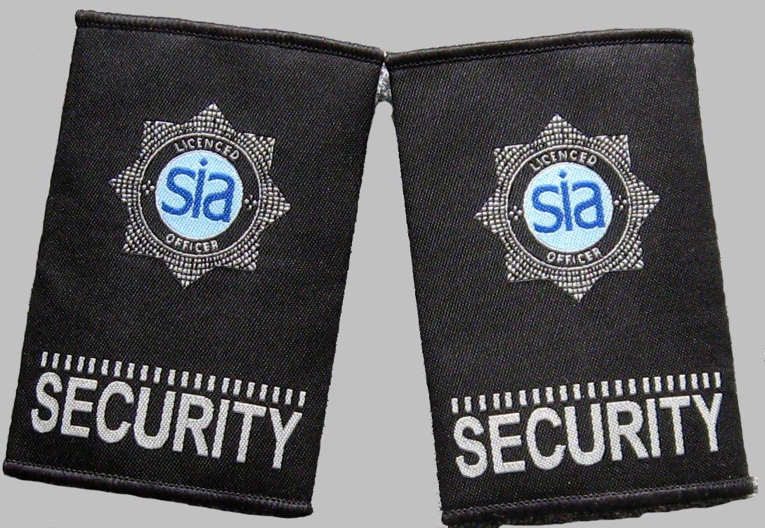 Woven Security Epaulette Slide Black Epaulettes SIA Epaulette