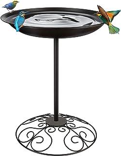 GESAIL Bird Habitat Metal Design Stable & Durable Weather Resistant Large Outdoor Garden Bird Bath & Bird Feeder, 4 Ground...