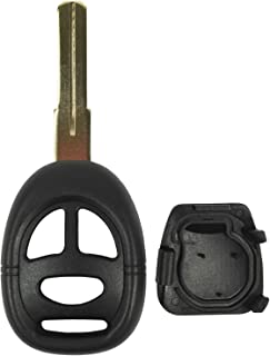 QualityKeylessPlus Replacement Remote Head Key 3 Button Case for Saab FCC ID KHH20TN1 with 4 Track Blade