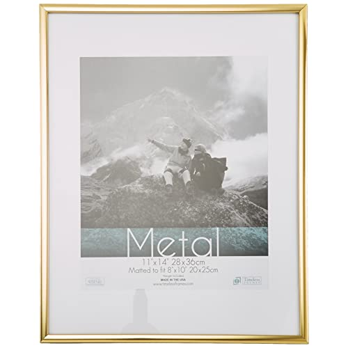 Timeless Frames Metal Wall Photo Frame, 11 By 14 Inch, Gold