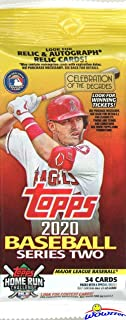 2020 Topps Series 2 MLB Baseball EXCLUSIVE HUGE Factory Sealed JUMBO FAT Pack with 34 Cards! Loaded with Rookies & Cool Inserts! Look for Autos & Relics & Super Rookie Luis Robert! WOWZZER!
