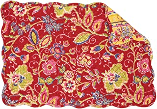 red and yellow placemats