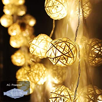 Buy Ascension 16 Balls 3 5meter Home Decoration Light Thai Warm White Color Rattan Ball String Lights Series Festival Lamp Diwali Chritmas New Year Party Light Navratri Navratre Lights Online At Low