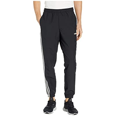 adidas Essentials 3-Stripes Wind Pants (Black/White) Men