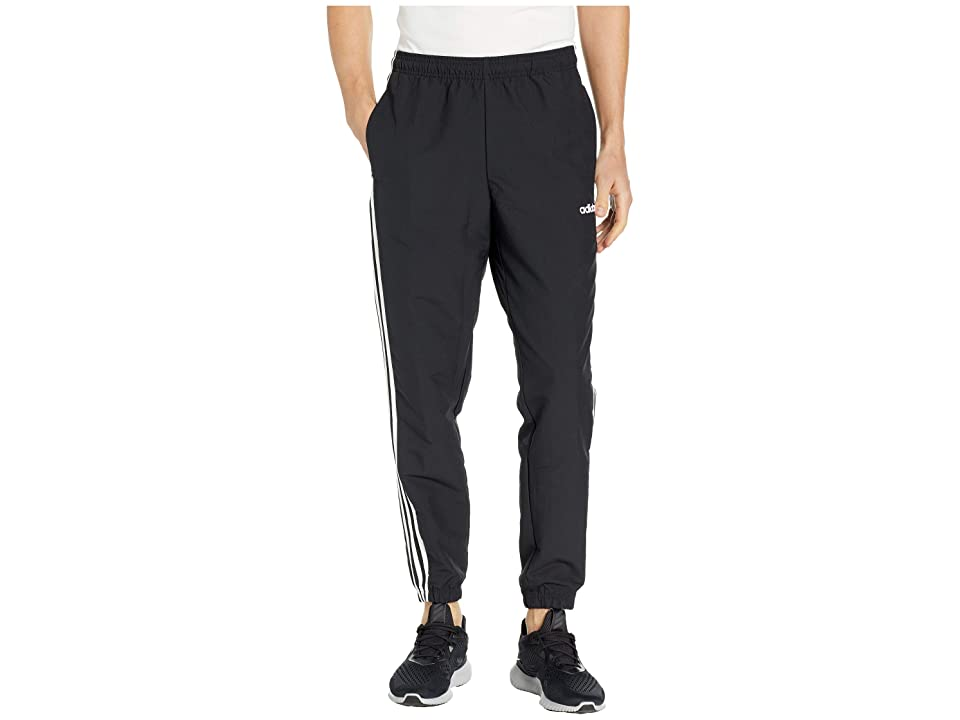 adidas Essentials 3-Stripes Wind Pants (Black/White) Men