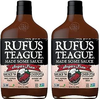 Rufus Teague: Sugar-Free BBQ Sauce - Premium BBQ Sauce- Natural Ingredients - Award Winning Flavors - Thick & Rich Sauce (Smoke N' Chipotle)-2pk