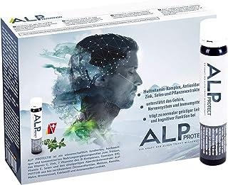 ALP PROTECT Multivitaminas Vitamina C B complex Zinc Selenio Coenzima Q10 Antioxidantes 14x25 ml ampollas bebibles apoya sistema inmunitario para hombres y mujeres