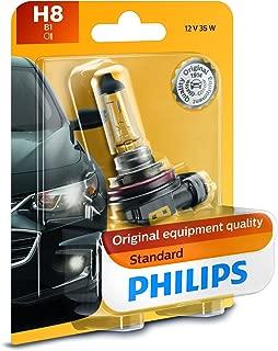 Philips H8 Standard Headlight Bulb, Pack of 1