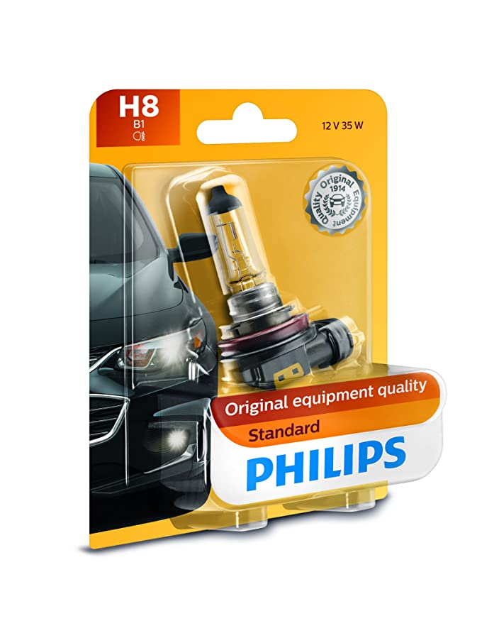 Philips H8 Standard Headlight Bulb, Pack of 1