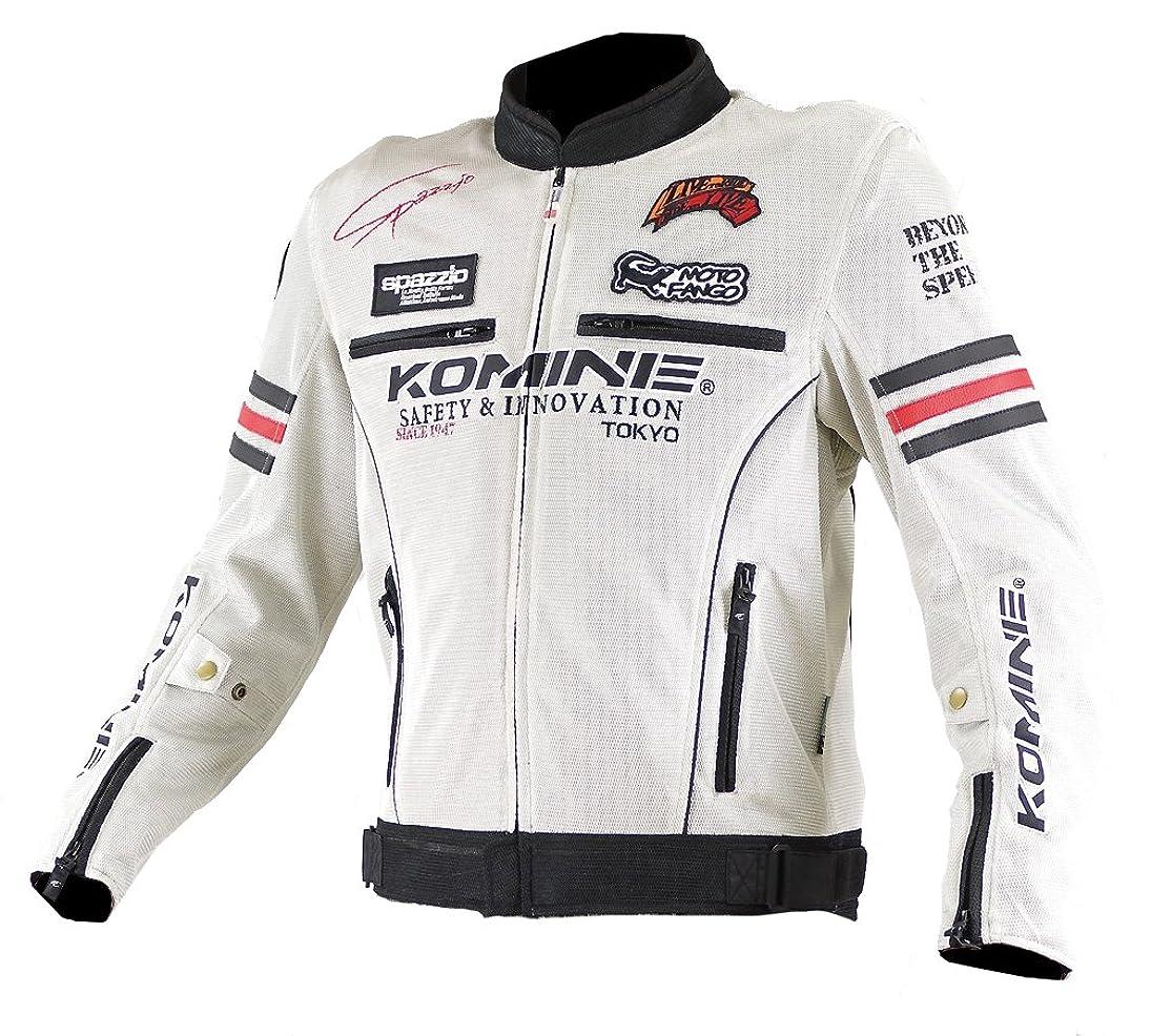 一定夕食を食べる出会いコミネ KOMINE バイク レジェンド メッシュ ジャケット アウター プロテクター 通気性 アイボリー/ブラック M 07-300 JK-300