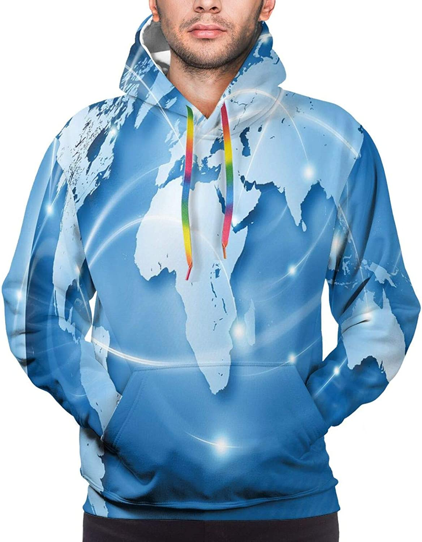 Men's Hoodies Sweatshirts,Coneflower by The Lake Water Sea Fall Hand Drawn Horizontal Print