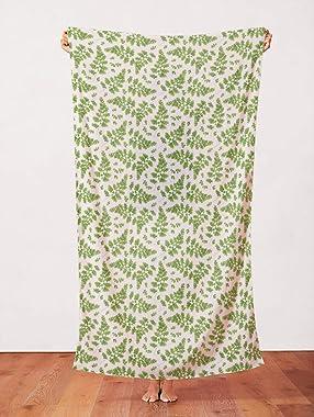 PBS Fabrics Modern Botanicals Organic Double Gauze Maidenhair, Green
