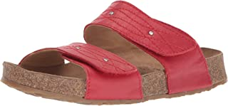 Haflinger Womens Biio Carrie Leather Open Toe Casual Slide Sandals