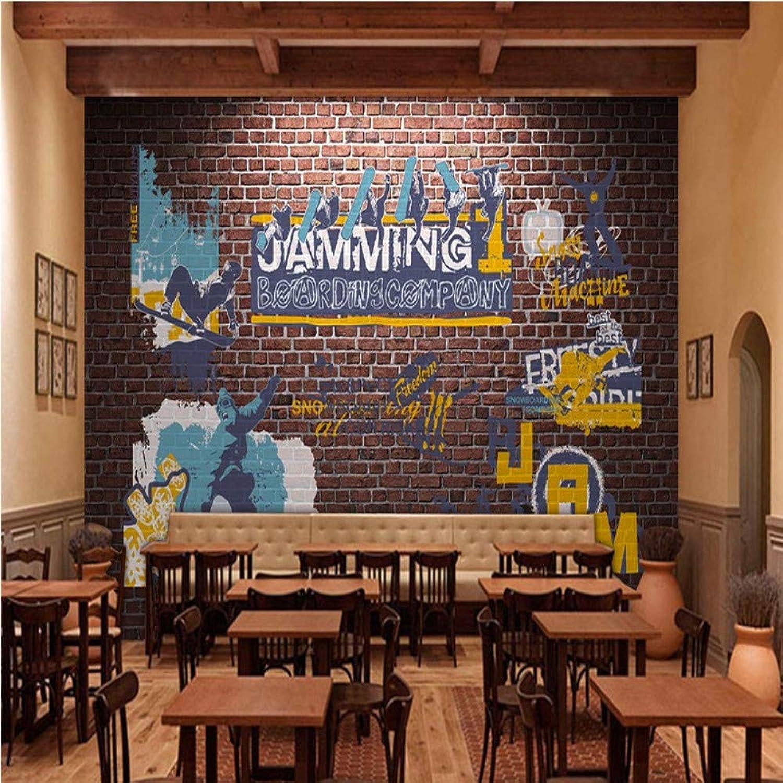 exclusivo Mbwlkj Fondo De Pantalla Personalizado 3D Retro Nostalgia Brick Brick Brick Wall Street Deportes Fondo Mural Graffiti Ktv Bar Restaurante Fondo De Pantalla-200cmx140cm  en stock