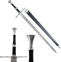 """49"""" Medieval Sword Replica Two Hand Middle Ages Sword with Dull Blade and Scabbard. for Collection, LARP, Cosplay,Gift"""