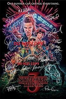 "Stranger Things Season 3 CAST Reprint SIGNED 12x18"" Poster RP Netflix TV Show"