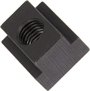 1018 Steel T-Slot Nut, Black Oxide Finish, Grade 5, Tapped Through, 3/8