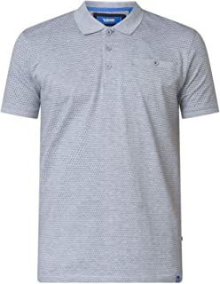 Grey Duke D555 Mens Big Tall Fine Stripe Knit Short Sleeve Polo Shirt Top