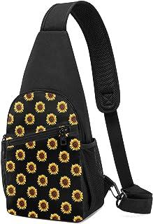 PGTry Sunflower Sling Bag - Mochila ligera para el hombro, mochila para el pecho, bolsa cruzada, para viajes, senderismo, ...