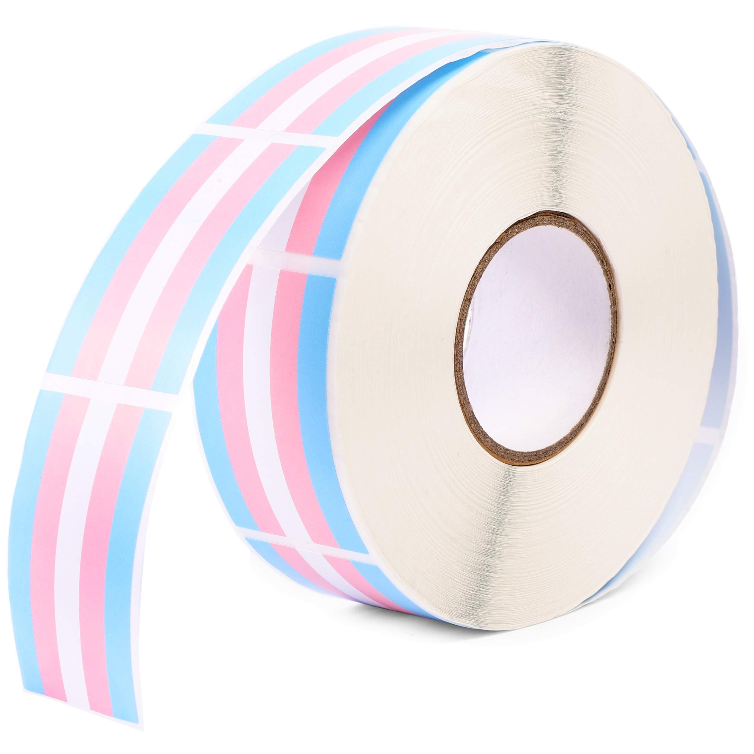 Blue Panda Pegatinas de Orgullo de la Bandera transgénero (Colores Pastel, Rollo de 1000): Amazon.es: Juguetes y juegos