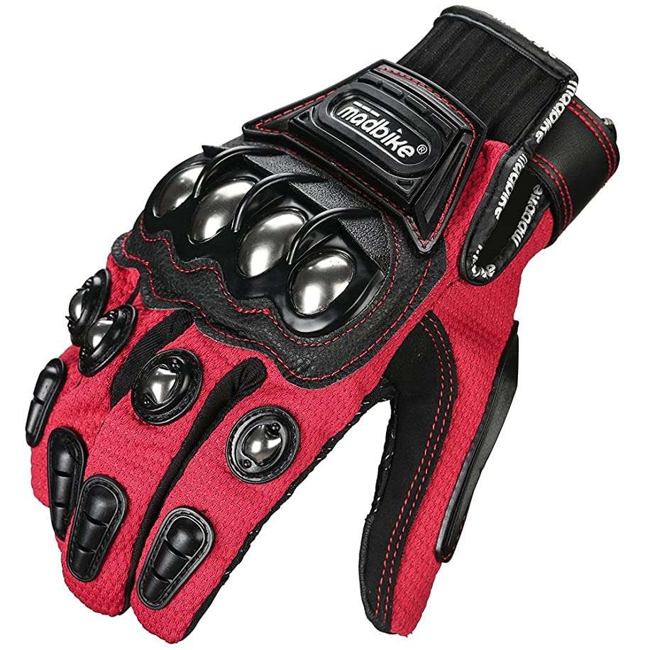 ILM Alloy Steel Touchscreen Bicycle Motorcycle Motorbike Powersports Racing Gloves (M, RED) carh3746941909
