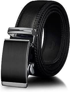 men belts Gold Automatic Ratchet Buckle Dress belts for men Waist 30-44 BROWN BLACK CZ049
