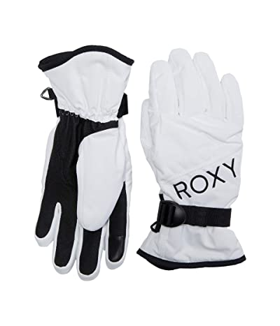 Roxy Jetty Solid Snowboard/Ski Gloves (Bright White) Extreme Cold Weather Gloves