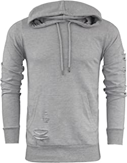5d105a690 Brave Soul Mens Designer Distressed Style Hooded/Hoodie Sweatshirt New  Sizes S-X