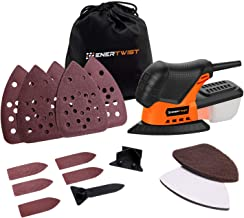 Enertwist Mouse Detail Sander -13000OPM Lightweight Small Sander with Dust Box for Tight..