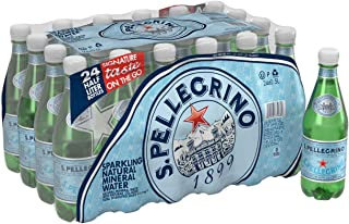 San Pellegrino Sparkling Natural Mineral Water, 24-16.9 oz Bottle (Pack of 2, Total of 811.2 Oz)