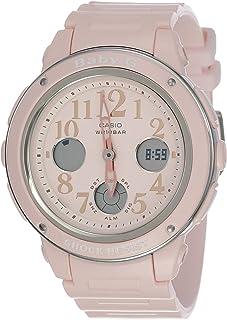 ساعة يد بيبي-جي للنساء من كاسيو بسِوار مطاطي ومينا بيتش BGA150EF-4B