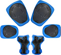 Child Kids Protective Gear Set,Knee and Elbow Pads with Wrist Guards Toddler for Multi-Sports Cycling,Bike,Rollerblading, Skating, Volleyball (Blue)
