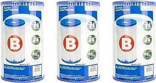 Intex B00LCIR3VS Pool Easy Set Type B Replacement Filter Pump Cartridge (3 Pack), 1, White