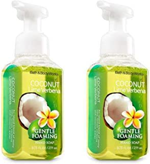 Bath and Body Works Gentle Foaming Hand Soap, Coconut Lime Verbena 8.75 Ounce (2-Pack)