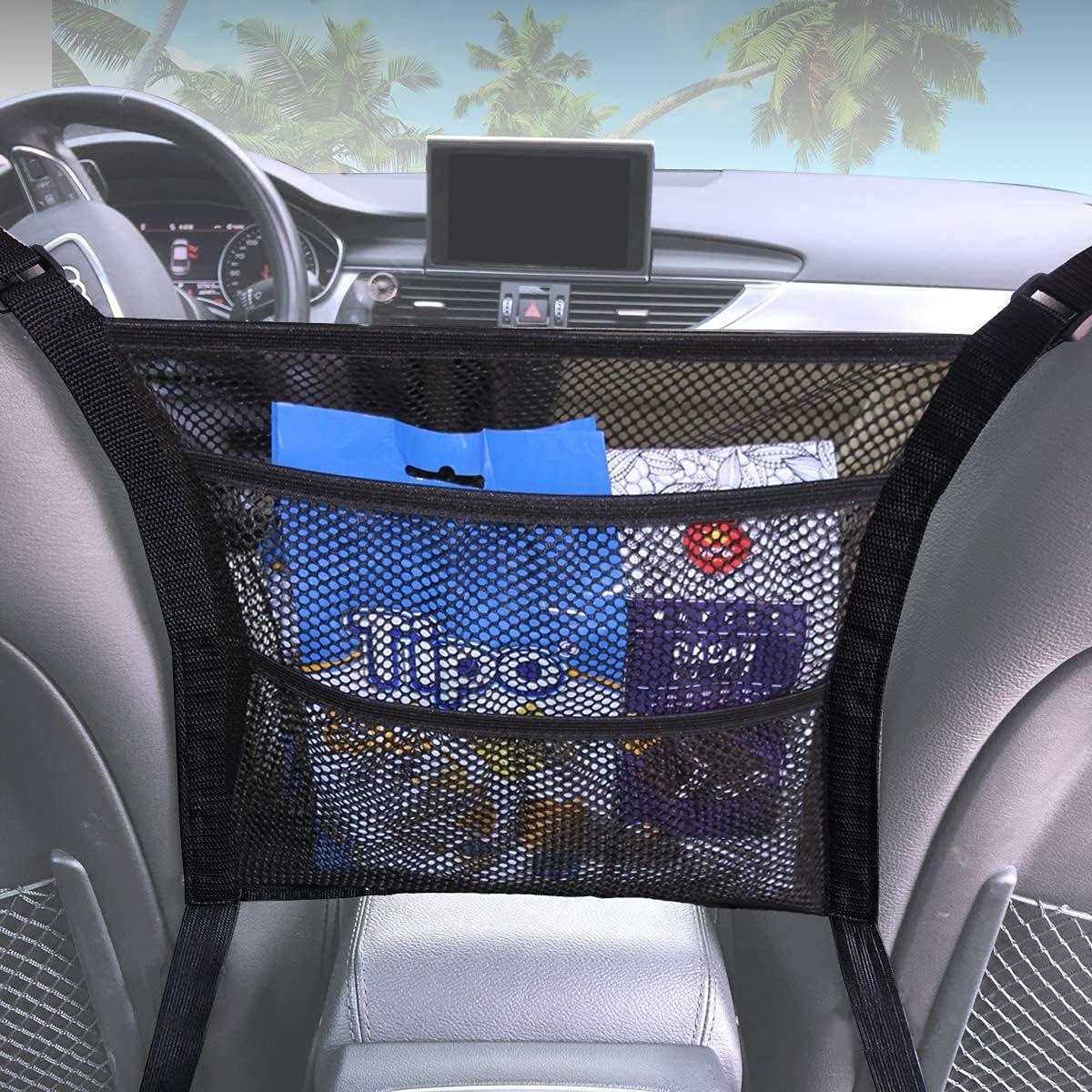 3-Layer Car Net Pocket Handbag N Organizer Chicago Mall Holder Seat Superior Back
