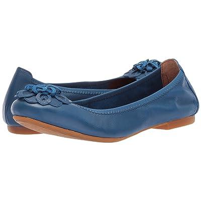 Born Julianne Floral (Blue (Electric Blue) Full Grain Leather) Women