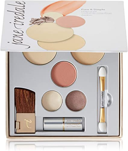 jane iredale Pure & Simple Makeup Kit | 4 Essentials to Complete the Look | Includes Mineral Foundation, Blush, Eye S...