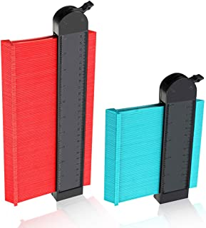 2 Pack Wider Contour Gauge Duplicator,CHARMINER Profile Gauges,Copy Irregular Shapes Measuring for Corners and Contoured 10 inch and 5 inch for Woodworking DIY Handyman Easy Master Outline