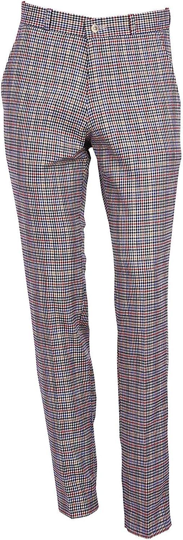 1960s Men's Clothing Mens Red Tartan Golf Sta Press Trousers Slim Fit 60s 70s Retro Mod Pants £29.99 AT vintagedancer.com