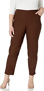 Alfred Dunner Women's Allure Slimming Petite Stretch Pants-Modern Fit