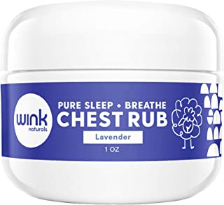 Wink Naturals Pure Sleep & Breathe Baby Chest Rub, Safely Diluted Eucalyptus, Peppermint And Lavender Essential Oils Calm Colds, Soothe Congestion And Promote Better Sleep, Great For Adults Too (1 oz)