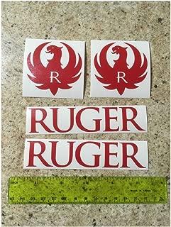 Logo Vinyl Die Cut Red Decal Hunting Sticker 4 Pack Lot