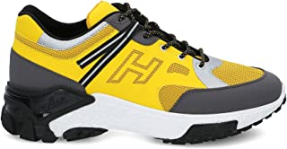 Luxury Fashion | Hogan Men HXM4770CQ90NC6973R Yellow Polyester Sneakers | Spring-summer 20