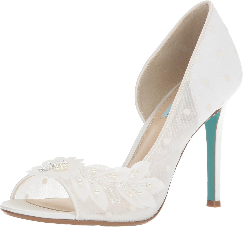 Betsey Johnson bluee Women's Sb-Anise Heeled Sandal