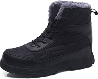JOINFREE Couple's Winter Shoes Snow Boots Warm Fur Waterproof Mid Calf Lightweight Snow Shoes